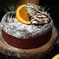 ORANGE AND HAZELNUT CHRISTMAS CAKE