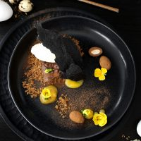 CHOCOLATE AND LICORICE DESSERT