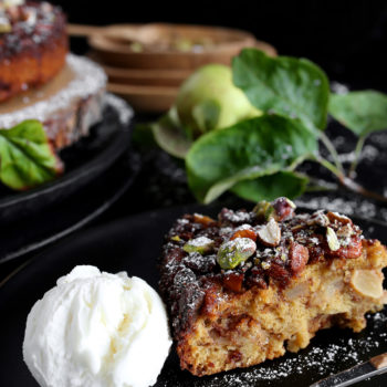 APPLE CAKE WITH CARAMELIZED NUTS
